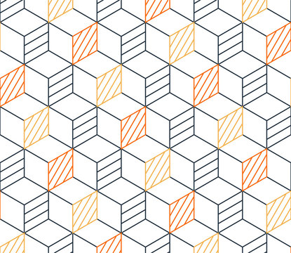 Black line pattern on white, seamless backdrop, minimalistic design