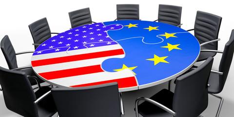 USA und Europa am Verhandlungstisch