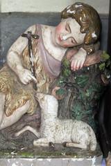 Angel, statue on the altar in the Saint Eliah church in Lipnik, Croatia