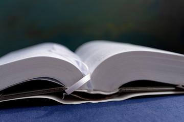 Expanded book. Closeup, image
