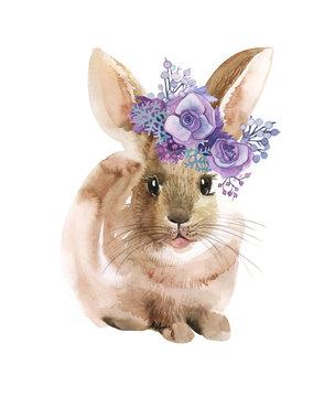 easter bunny watercolor
