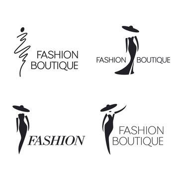 Set of vector logo design template. Fashion sign.