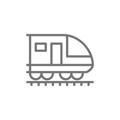 Train, subway, locomotive, railroad line icon.