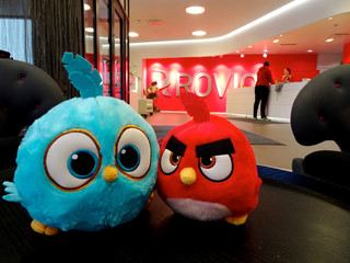 Angry Birds game characters are seen at the Rovio headquarters in Espoo
