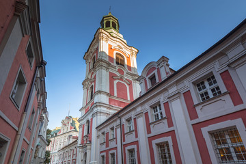 Architecture of the old town in Poznan, Poland.