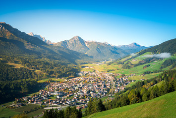 san candido, town in the middle of dolomites mountains. south tyrol, italy Wall mural