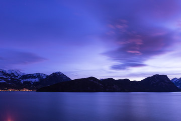 The color of the night is Royal Blue. Lucerne Lake