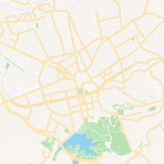 Tirana, Albania printable map