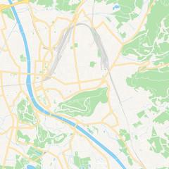 Salzburg, Austria printable map