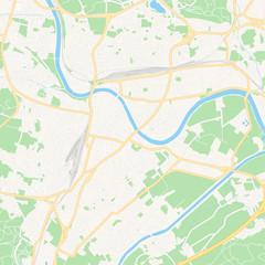 Villach, Austria printable map