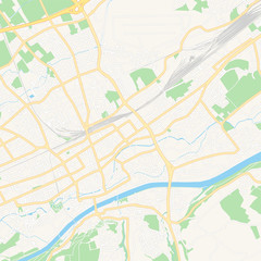 Wels, Austria printable map