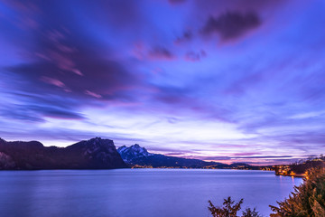 Тight is Royal Blue. Lucerne Lake