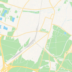 Wiener Neustadt, Austria printable map