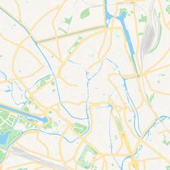 Ghent , Belgium printable map