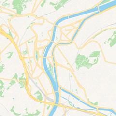 Liege , Belgium printable map