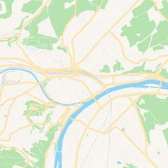 Namur , Belgium printable map