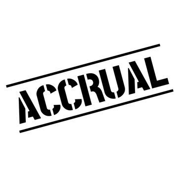 accrual black stamp