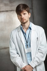 Portrait of serious doctor