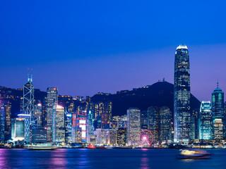 香港 ビクトリア・ハーバー 夜景