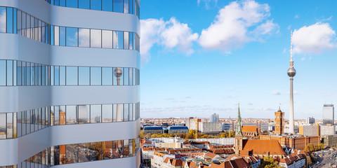 Modernes Hochhaus Gebäude in Berlin City Fototapete