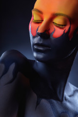 Photo sur Aluminium Body Paint Art make-up