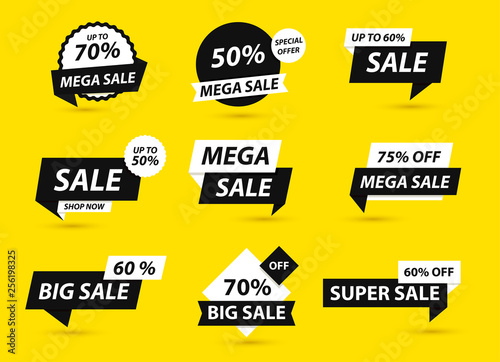 Sale Tags Collection Special Offer Big Sale Discount Best Price