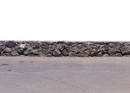 Muret de pierres, parapet en maçonnerie