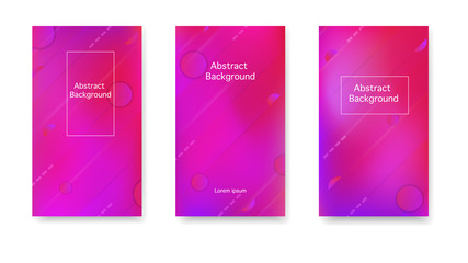 Gradient, neon, lines, forms. Vector. Modern cover in a minimalist style. Color geometric gradient, abstract background.