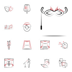 carnival mask icon. handdraw icons universal set for web and mobile
