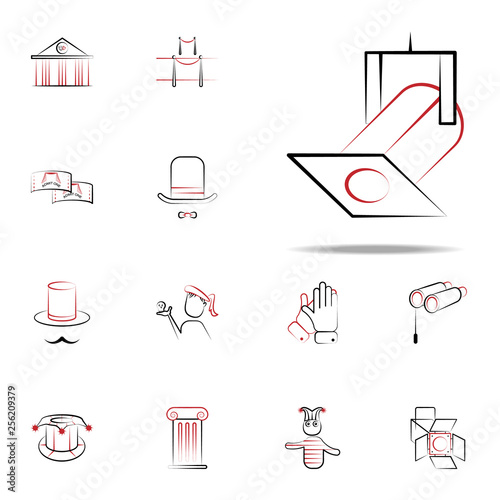 spotlight icon  handdraw icons universal set for web and