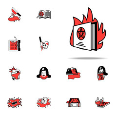 Esoteric, fire icon. Literary genres icons universal set for web and mobile