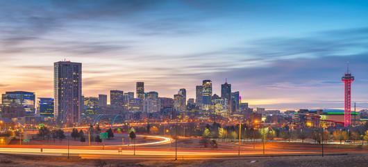 Denver, Colorado, USA downtown skyline panorama