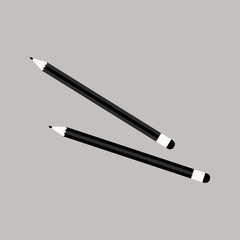 Isolated pencil icon in flat style. Vector Illustration.