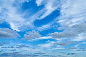 Blue sky with clouds in the day