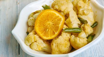 Moroccan  Cauliflower With Preserved mandarinas