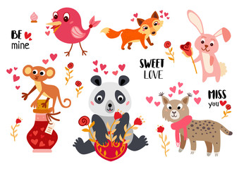 Big Valentine's Day set a cartoon characters