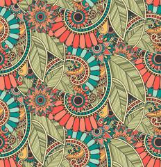 Bright zentangle doodle seamless pattern