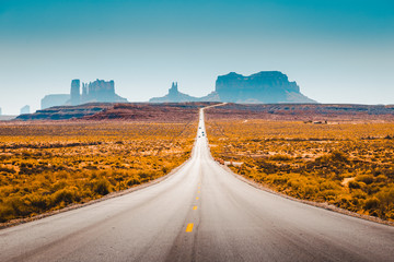 Wall Mural - Classic highway view in Monument Valley, USA