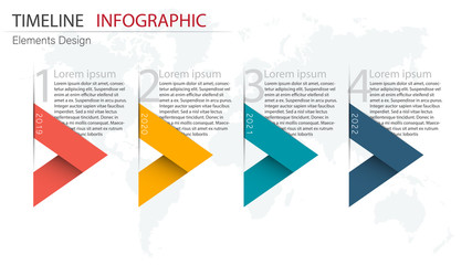 Vector abstract element infographics 4 step. Design for business finance template layout, brochure, workflow, information or presentation and other. Infographics timeline path. Abstract 3D vector.