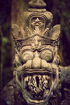 Close-up of dragon statue