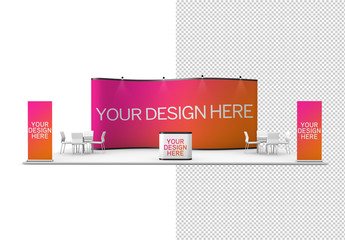 Trade Show Exhibition Stands Mockup