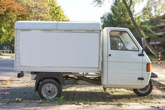 KFZ Lieferwagen Werbefläche - retro