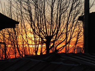 Sonnenuntergang in Fatih, Istanbul, Türkei im Februar, 2. Feb., 2019