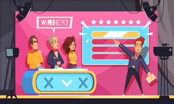 TV Guess Word Show Illustration