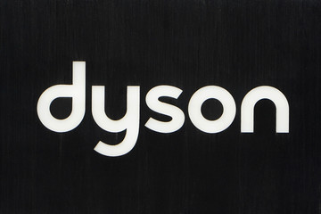 A Dyson logo is seen on 5th Ave in New York