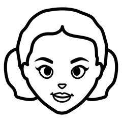beautiful woman head character