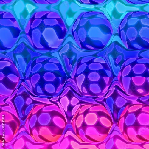 Retrowave Synthwave 80s Abstract Background with Hexagons