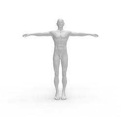 Human Man White  Body 3D Rendering