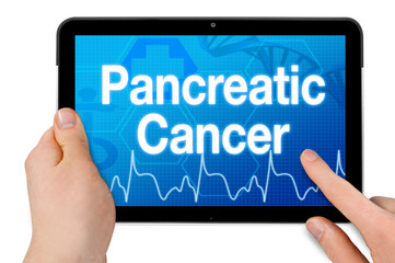 Tablet with touchscreen and diagnosis pancreatic cancer