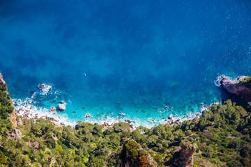 Italy, Campania, Capri, Anacapri, View from Monte Solaro
